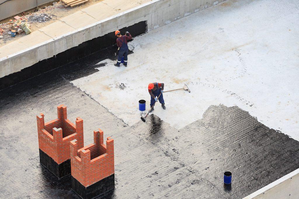 flat roof waterproofing contractor works